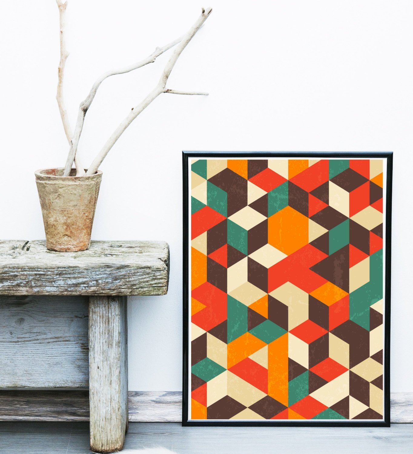 Mid Century Modern Wall Decor Awesome Geometric Wall Art Printable Art Mid Century Modern by Exileprints