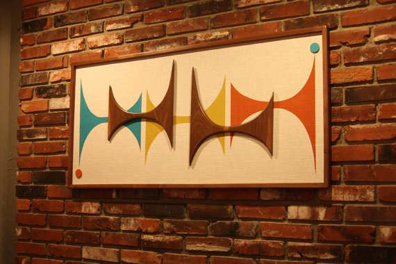 Mid Century Modern Wall Decor Elegant Mid Century Modern Witco Madmen Abstract Wall Art Sculpture
