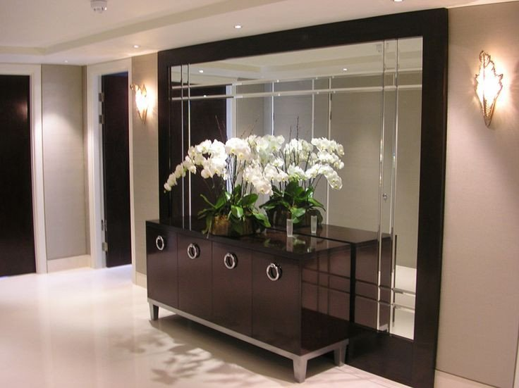 Mirrors Contemporary Living Room Fresh Luxury Show House Apartment Knightsbridge London
