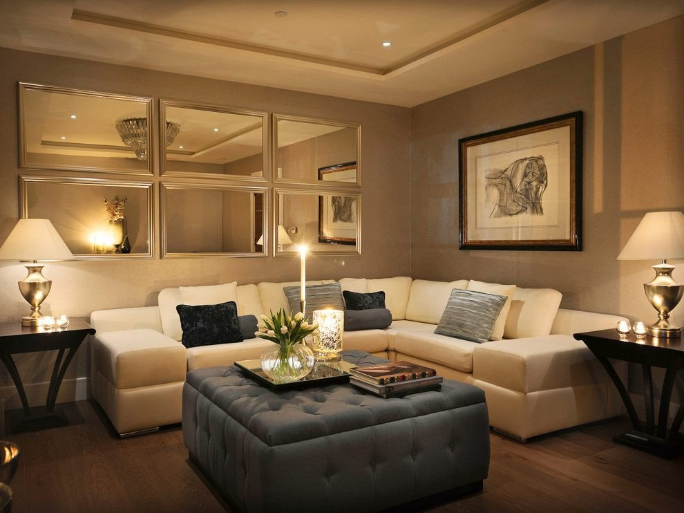 Mirrors Contemporary Living Room Inspirational Terrific Mirror Over sofa with Warm Corner Pranaycoffee