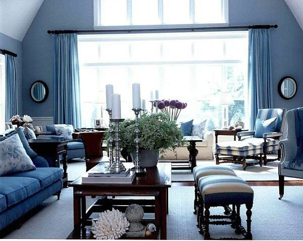 Modern Blue Living Room Decorating Ideas Awesome Blue Modern Living Room Home Decorating Ideas