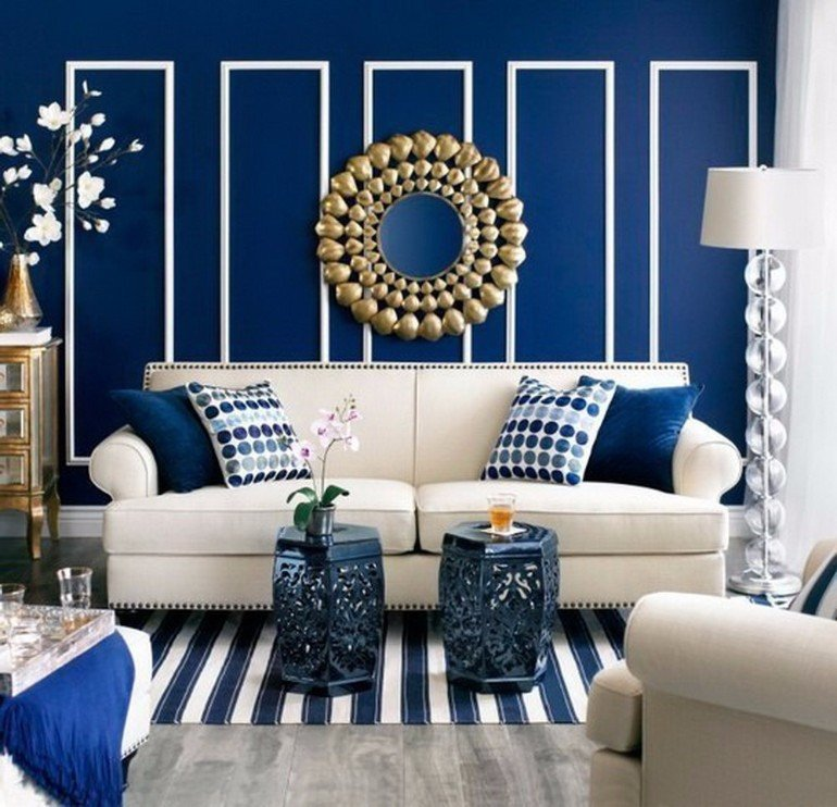 Modern Blue Living Room Decorating Ideas Best Of Modern Living Room with Navy Blue Walls