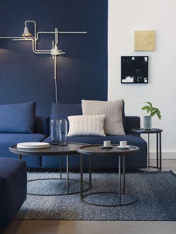 Modern Blue Living Room Decorating Ideas Fresh 9 Interior Decor Living Rooms In Moody Blue Interiors by Color
