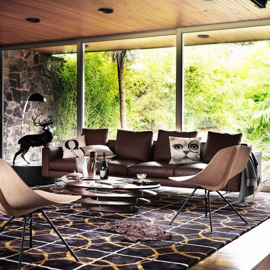 Modern Chair Living Room Decorating Ideas Best Of Modern Living Room with Brown Leather sofa Living Room Decorating Ideas