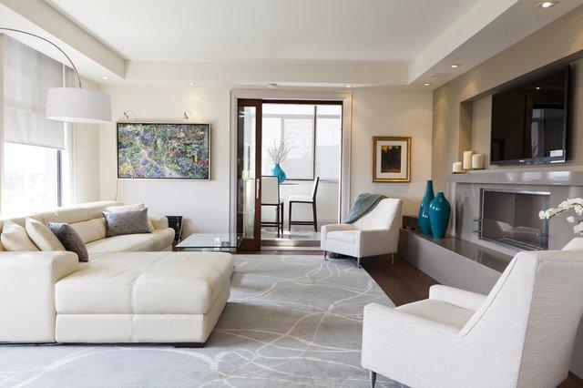 Modern Condo Living Room Decorating Ideas Luxury Luxurious Condo Living Room Contemporary Living Room toronto by Biglarkinyan Design