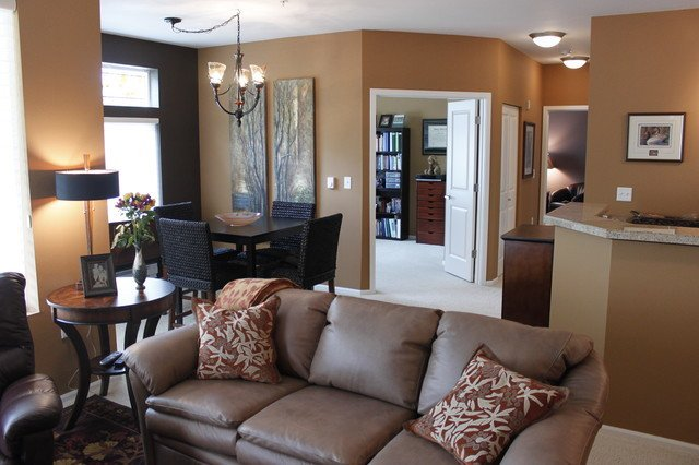 Small Condo makeover Contemporary Living Room other metro by Greene Designs LLC