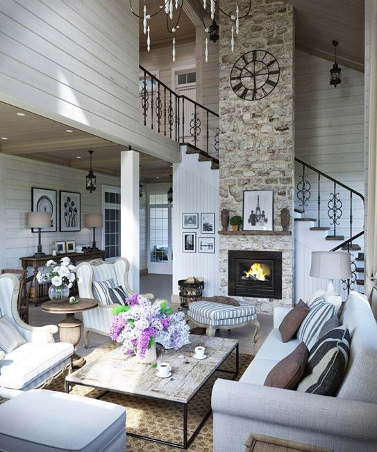 Modern Country Living Room Decorating Ideas Luxury fortable Family Home Design Cottage Decor In Neutral Colors Great Inspirations for Country
