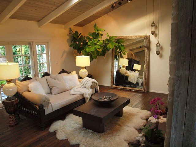 Modern Daybed Living Room Decorating Ideas Awesome sofa and Daybed Mediterranean Living Room Los Angeles by Tara Design