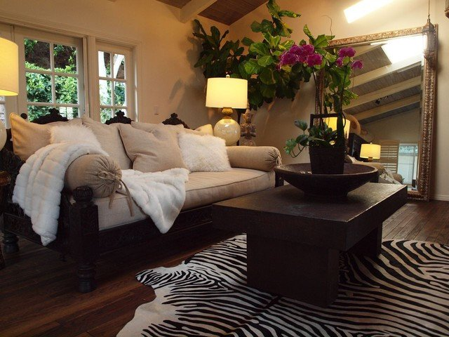Modern Daybed Living Room Decorating Ideas Luxury Jhula sofa and Daybed Mediterranean Living Room Los Angeles by Tara Design