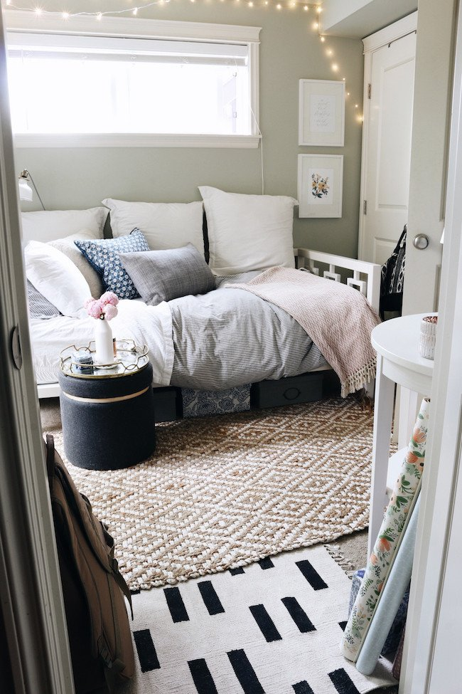 Modern Daybed Living Room Decorating Ideas Luxury Tiny Bedroom tour Courtney S Room the Inspired Room