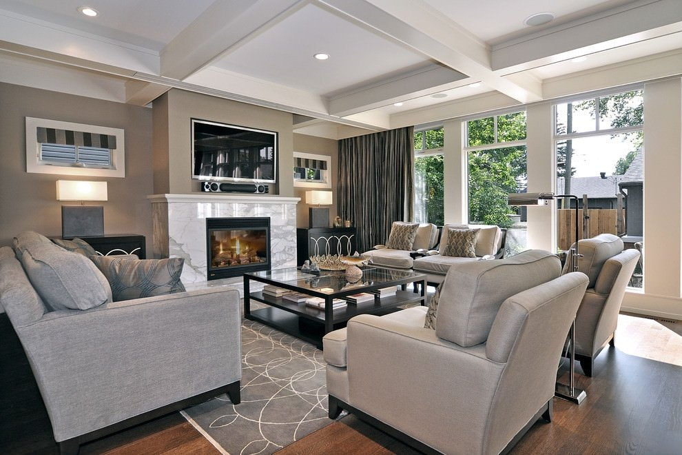 Modern Grey Living Room Decorating Ideas Unique 23 Square Living Room Designs Decorating Ideas