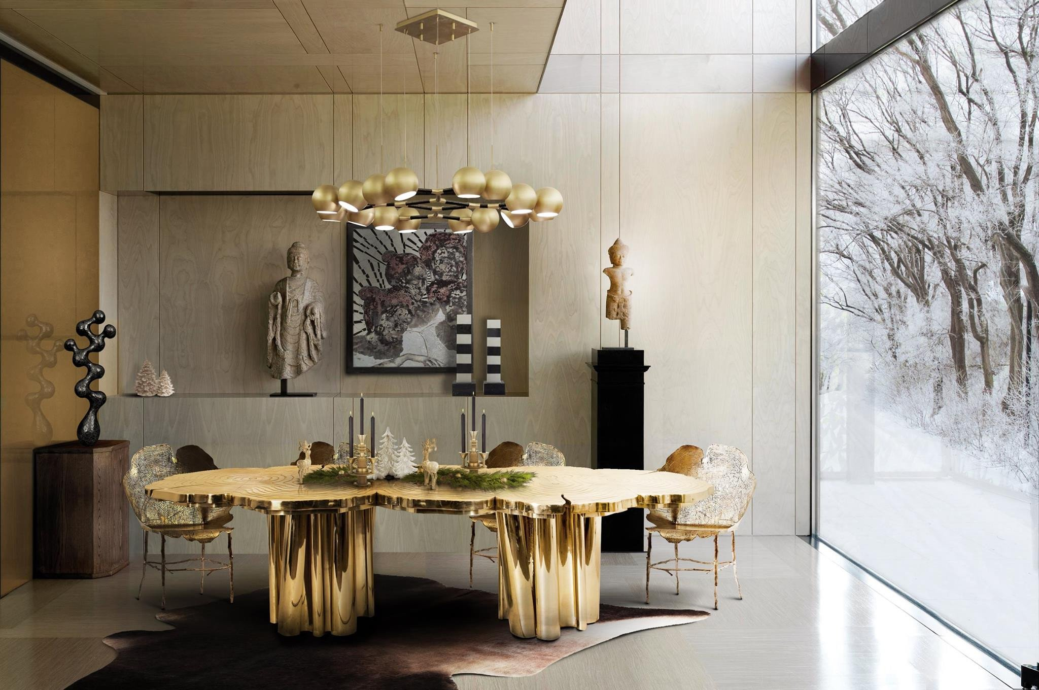 Modern Living Dining Room Decorating Ideas Beautiful the Best Black and Gold Decorating Ideas for Your Dining Room