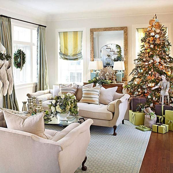 Modern Living Room Decorating Ideas Christmas Beautiful 53 Wonderfully Modern Christmas Decorated Living Rooms