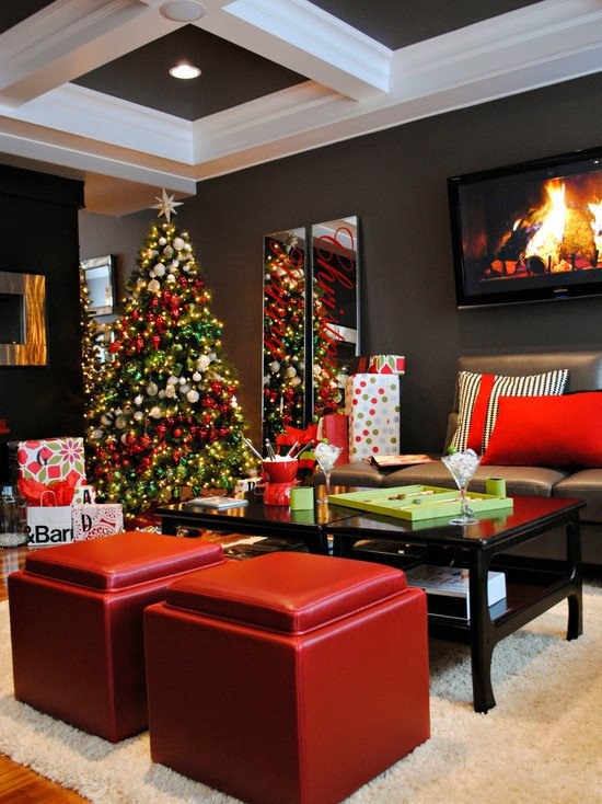 Modern Living Room Decorating Ideas Christmas Beautiful Modern Christmas Living Room Decor – Diy Your Home & Small Apartment Ideas