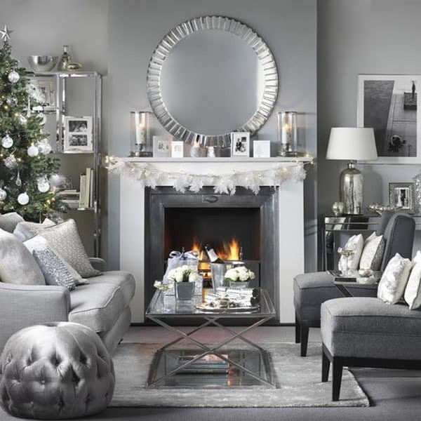 Modern Living Room Decorating Ideas Christmas Best Of 53 Wonderfully Modern Christmas Decorated Living Rooms