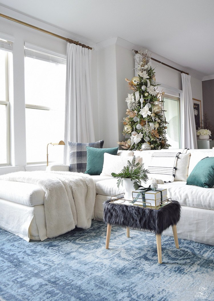 Modern Living Room Decorating Ideas Christmas Elegant Glam Christmas Living Room tour Tips for Easy Holiday Decorating