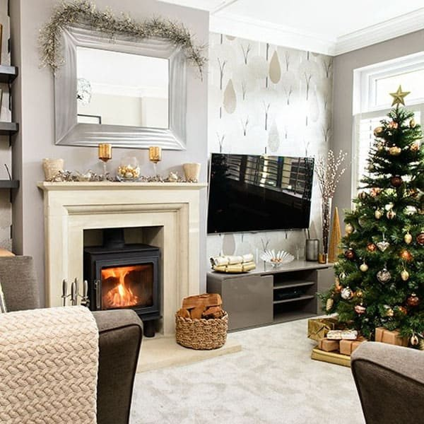 Modern Living Room Decorating Ideas Christmas New 53 Wonderfully Modern Christmas Decorated Living Rooms