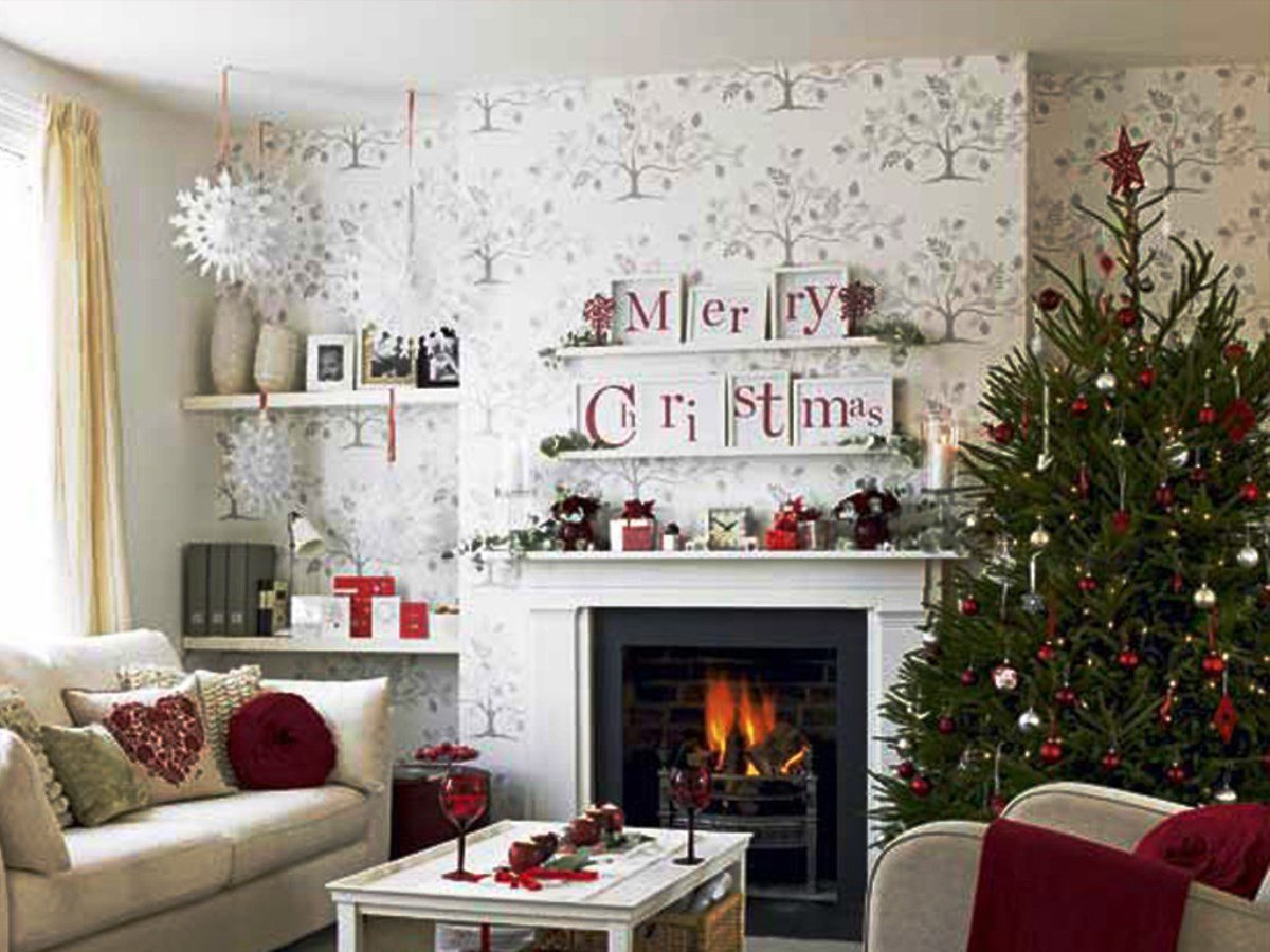 Modern Living Room Decorating Ideas Christmas New Christmas Living Room Decorations Ideas &