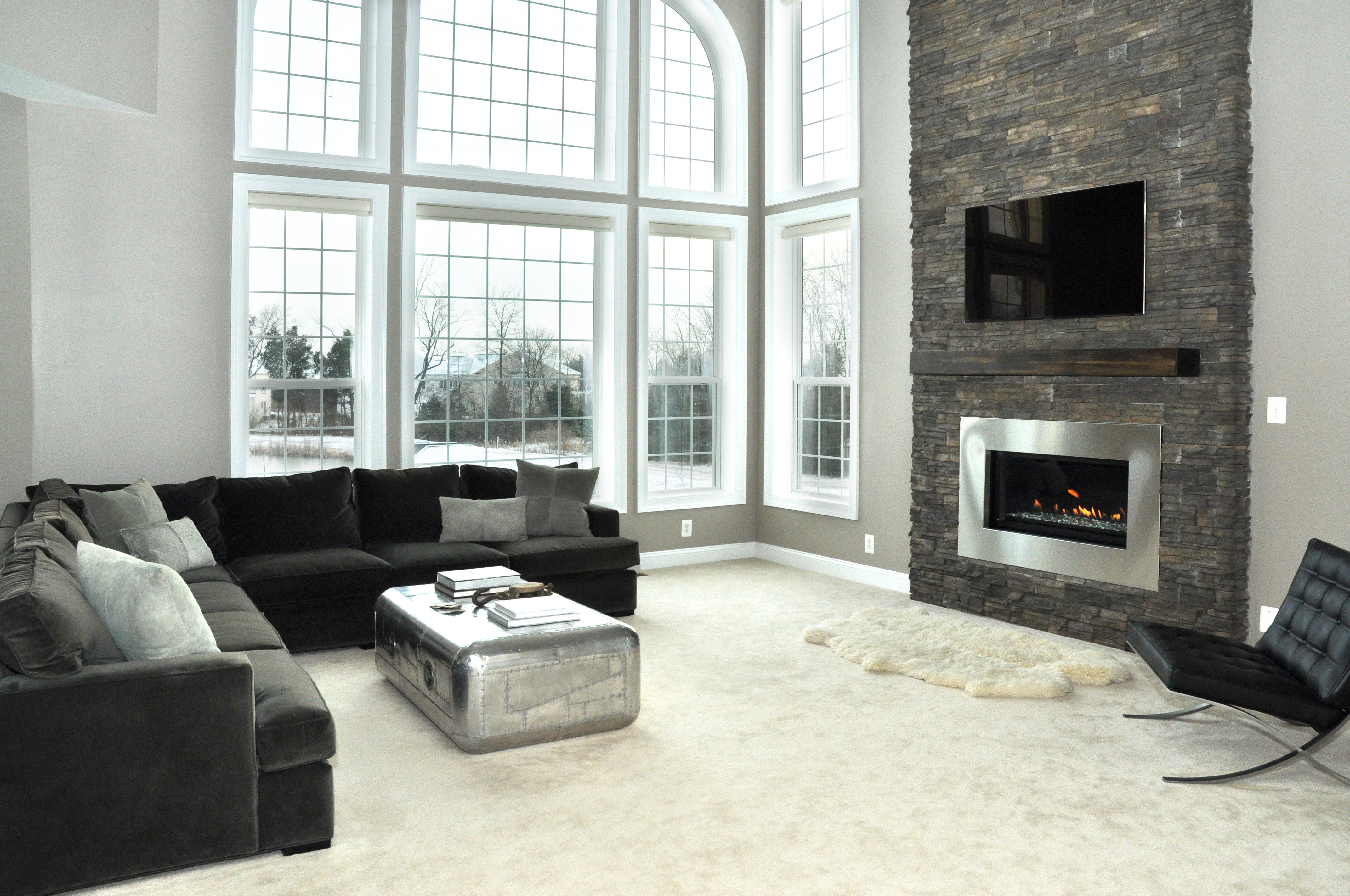 Modern Living Room Decorating Ideas Fireplace Awesome Modern Fireplace Renovation