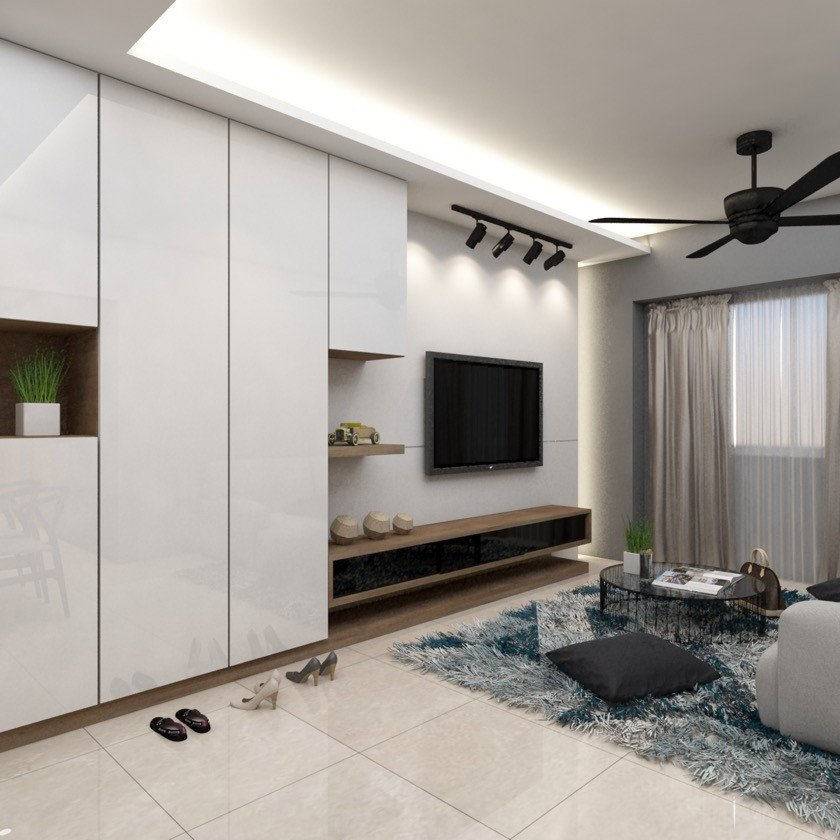 Modern Living Room Decorating Ideas Storage Luxury Storage Ideas In Living Room at Blk 266b Punggol Emerald