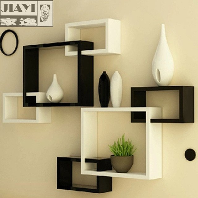 Modern Living Room Decorating Ideas Storage Luxury Yi Minimalist Modern Home Wall Shelving Racks Triples Creative Living Room Wall Decoration