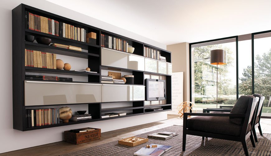 Modern Living Room Decorating Ideas Storage Unique 20 Modern Living Room Wall Units for Book Storage From Misuraemme Digsdigs