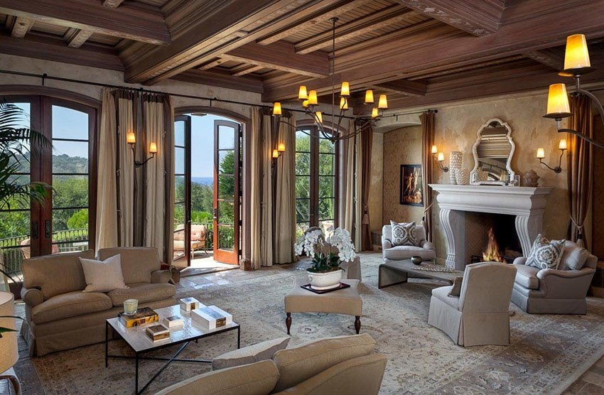 Modern Living Room Tuscan Decorating Ideas Unique Luxury Tuscan Style Home Design Designing Idea