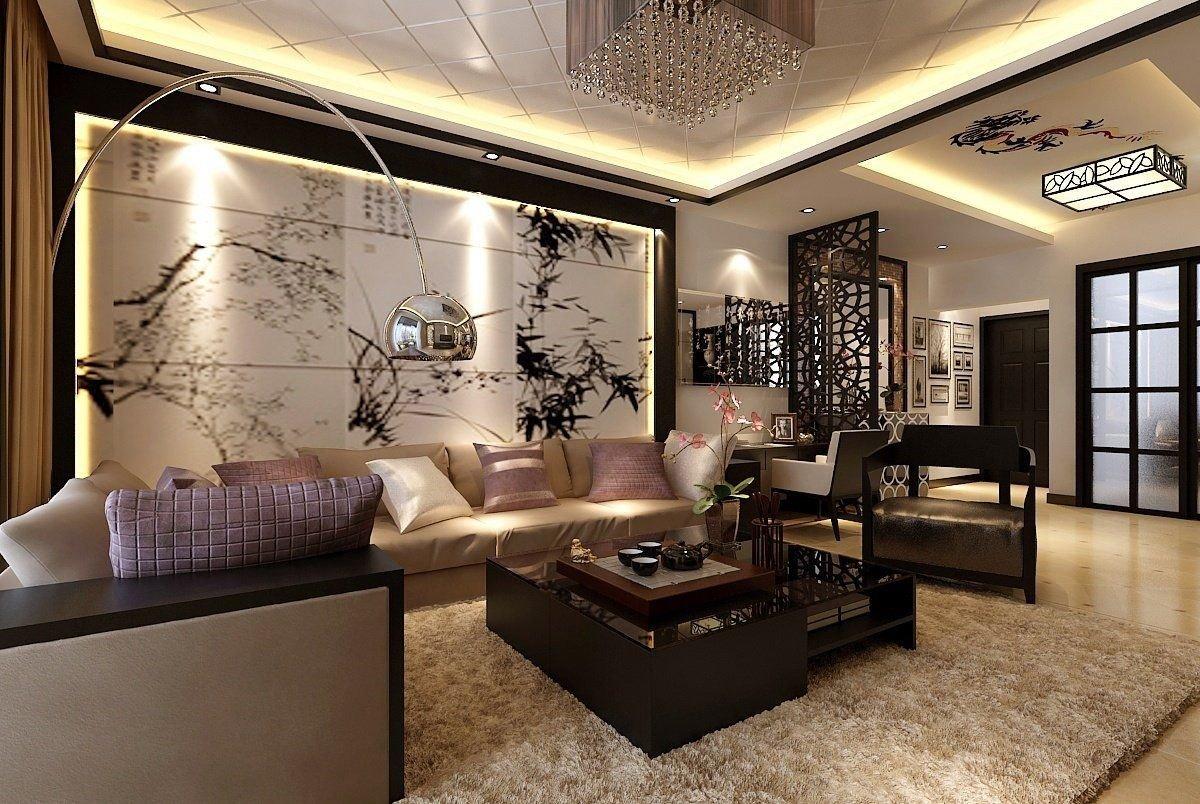Modern Living Room Wall Decor New asian Inspired Living Room Ideas