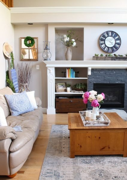 Modern Living Room Wall Decorating Ideas Best Of Modern Farmhouse Summer Living Room Decorating Ideas Clean and Scentsible