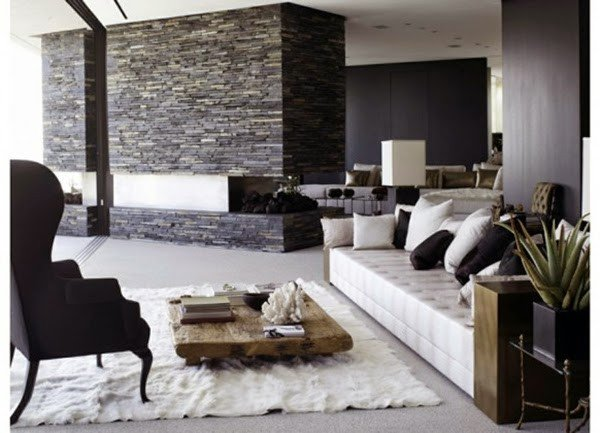 Modern Living Room Wall Decorating Ideas Luxury Living Room Design Ideas Natural Stone Wall In the Interior