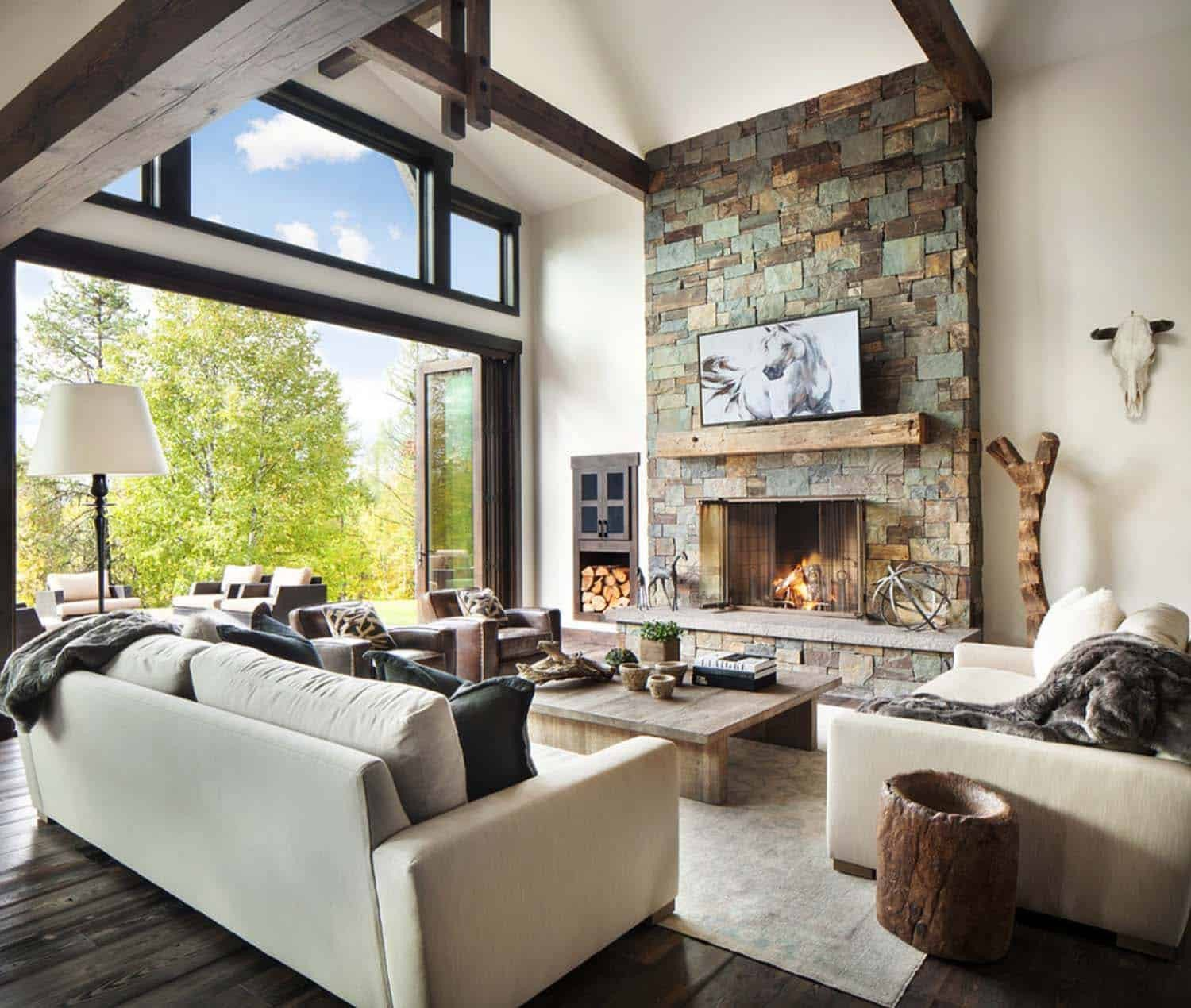 Modern Rustic Living Room Decorating Ideas Unique Rustic Modern Dwelling Nestled In the northern Rocky Mountains