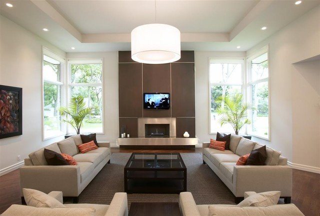Modern Transitional Living Room Decorating Ideas Elegant Getadesign Transitional Worlington Contemporary Living Room Detroit by Getadesign Llc