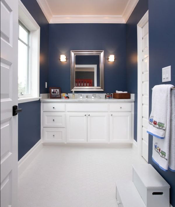 Navy and White Bathroom Decor Awesome 23 Kids Bathroom Design Ideas to Brighten Up Your Home