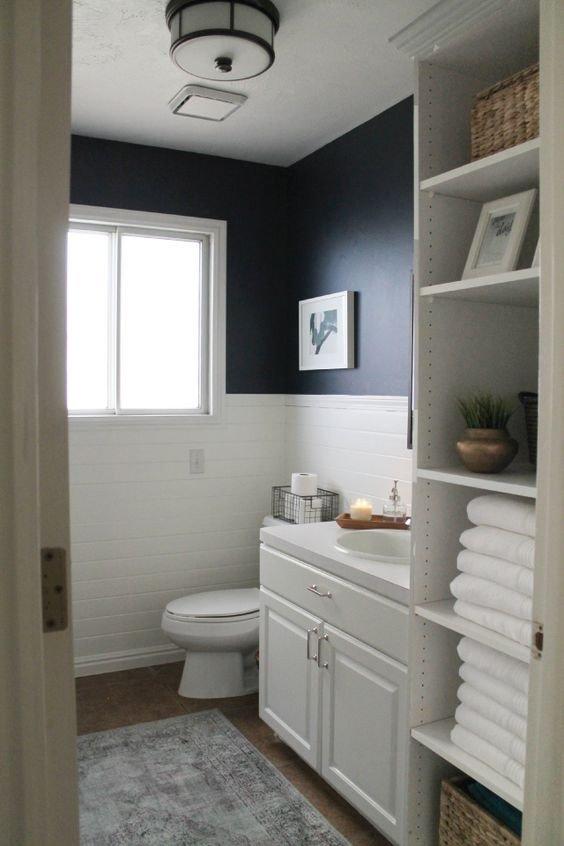 Navy and White Bathroom Decor Awesome Navy Bathroom Decorating Ideas