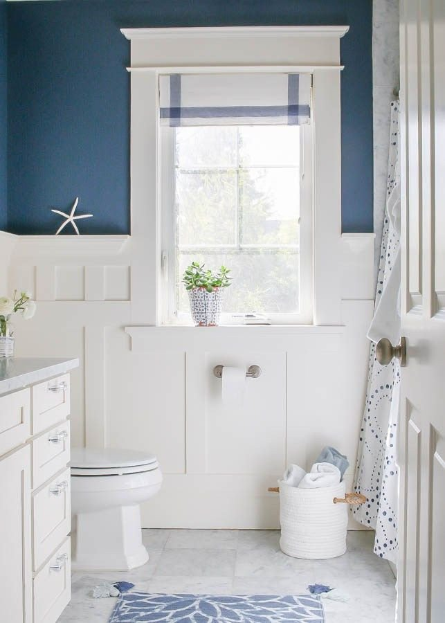 Navy and White Bathroom Decor Awesome Navy Blue and White Bathroom Bathrooms