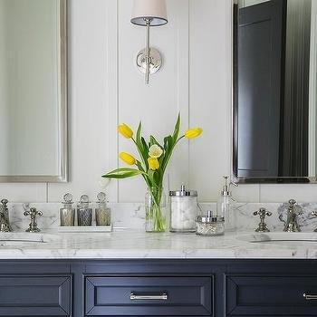 Navy and White Bathroom Decor Awesome Navy Blue Bathroom Design Ideas