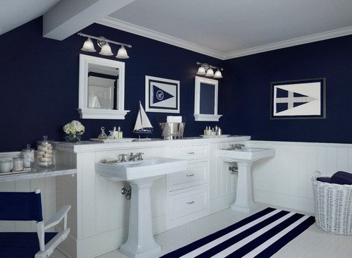 Navy and White Bathroom Decor Lovely Easy Tips to Help You Decorating Navy Blue Bathroom Home Decor Help
