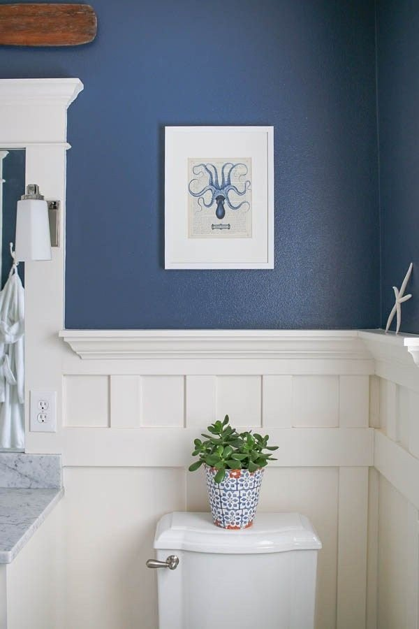 Navy and White Bathroom Decor Lovely Navy Blue and White Bathroom Home Decor