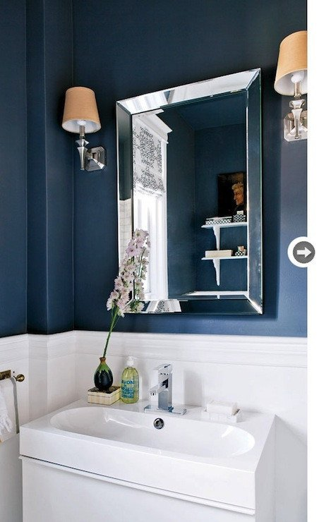 Navy and White Bathroom Decor Luxury Navy Blue Bathroom Contemporary Bathroom Style at Home