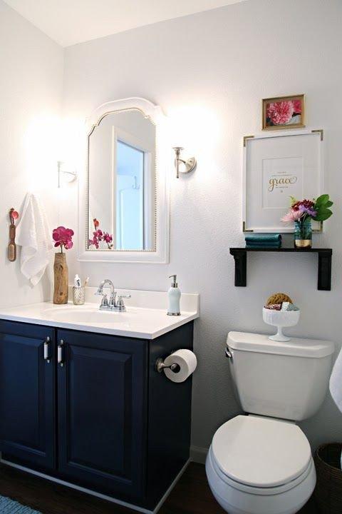 Navy and White Bathroom Decor New Navy Bathroom Decorating Ideas