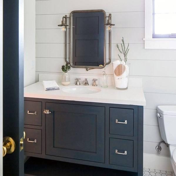 Navy and White Bathroom Decor Unique top 50 Best Blue Bathroom Ideas Navy themed Interior Designs