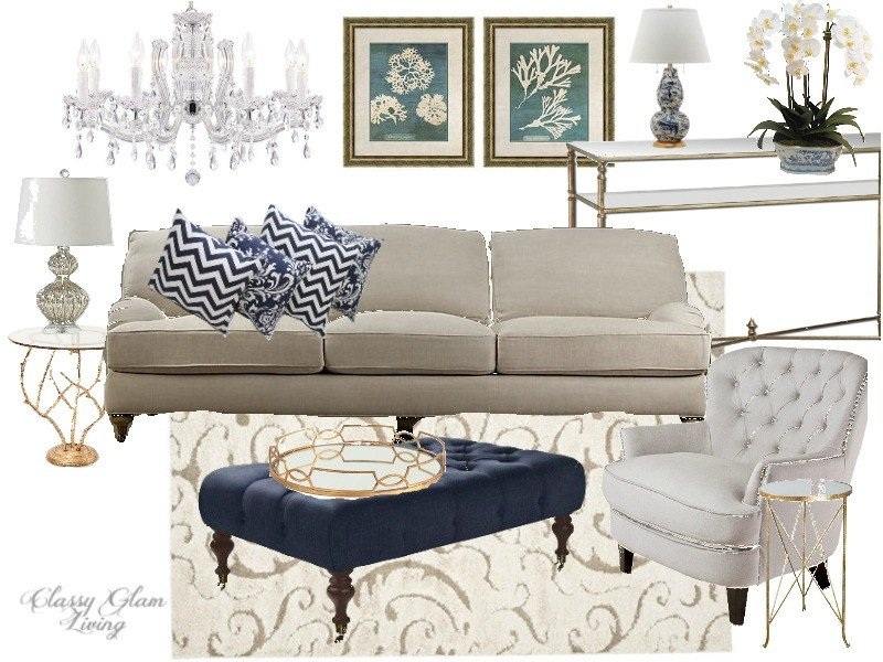 Navy Blue and White Decor Beautiful Color Trend Black White Gold Vs Navy White Gold — Classy Glam Living