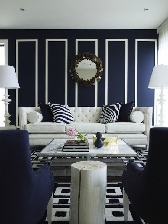 Navy Blue and White Decor Best Of Contemporary Navy Blue Living Room Design