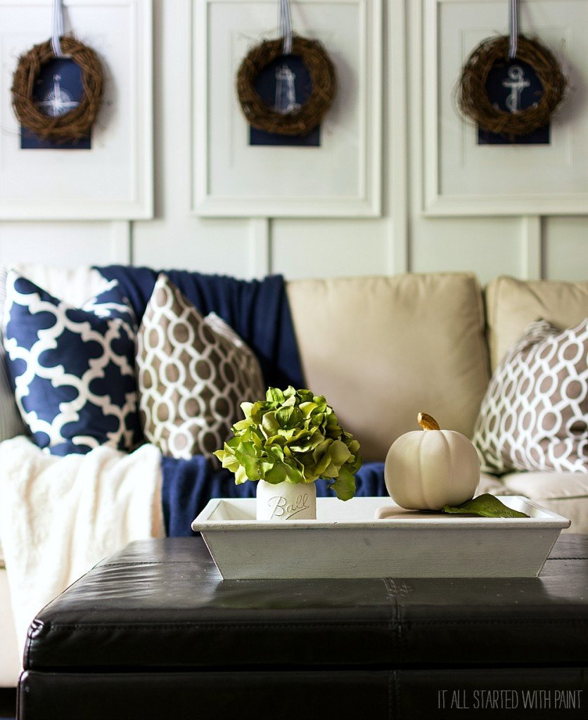 Navy Blue and White Decor Lovely Fall Decor In Navy and Blue