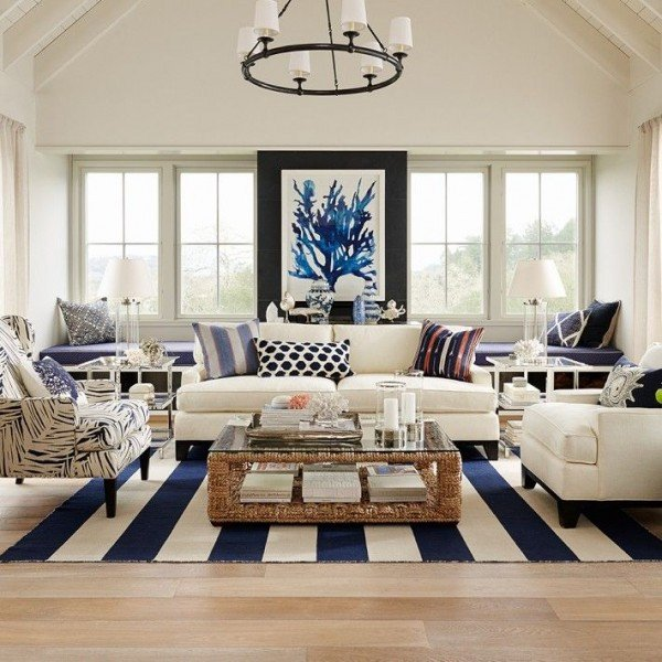 Navy Blue and White Decor Lovely How to the Hamptons Style for Less