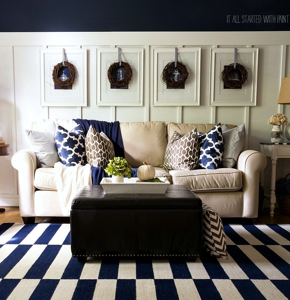 Navy Blue and White Decor Luxury Fall Decor In Navy and Blue