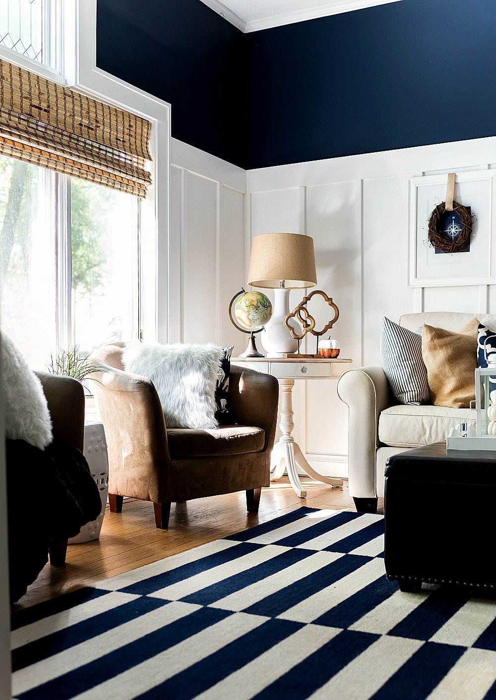 Navy Blue and White Decor Unique Fall Decor In Navy & White It All Started with Paint
