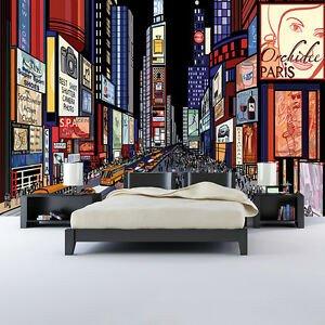 New York City Bedroom Decor Inspirational Times Square New York Wall Mural City Illustration Wallpaper Bedroom Decor