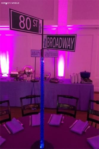 New York themed Home Decor Beautiful Ny Party Diy Street Signs Centerpieces sophie World Centerpieces and Party Decor
