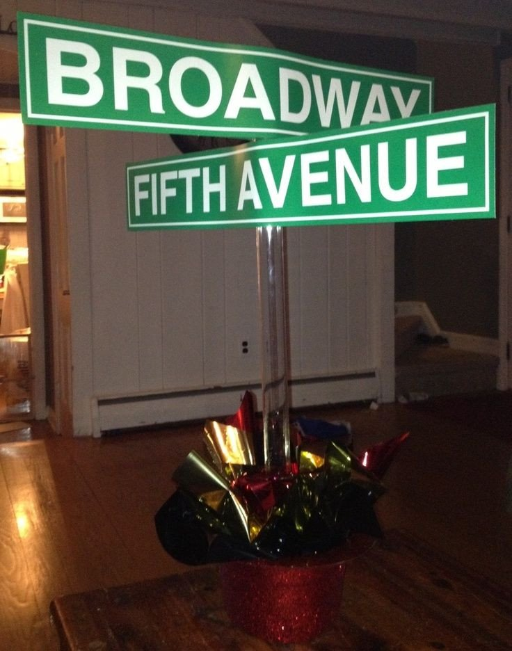 New York themed Home Decor New Centerpieces New York themed events Broadway New York Centerpiece New York Nights